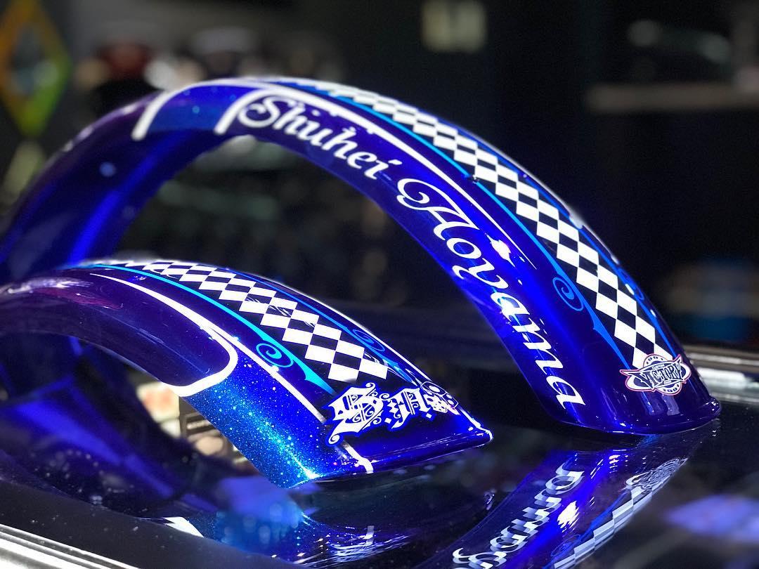 オートレーサー青山周平選手の競走車に装着するフロントフェンダー、リアフェンダーが仕上がりました♠️