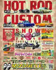 HOT ROD CUSTOM SHOWの告知ポスター
