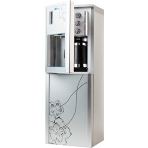 Кулер для воды со шкафчиком SMixx HD-1312 C серебристый с узором