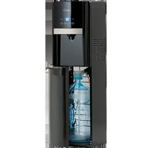 Кулер для воды AEL-809a black с нижней загрузкой бутыли