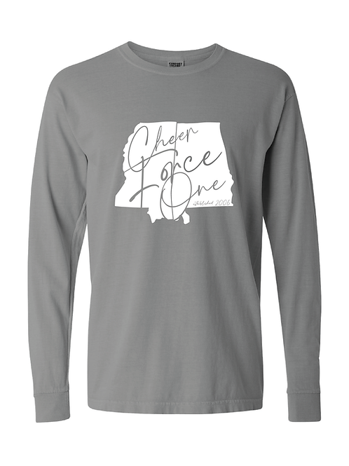 "Cheer Force One ""State"" Shirt (LONG-SLEEVE)"