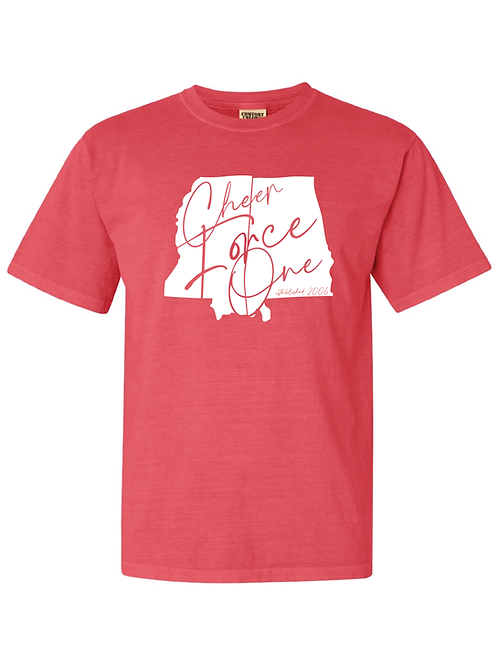 """Cheer Force One """"State"""" Shirt (SHORT-SLEEVE)"""