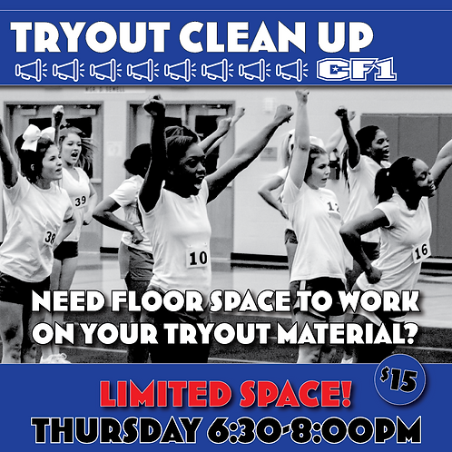 Tryout Clean Up Session (AL)
