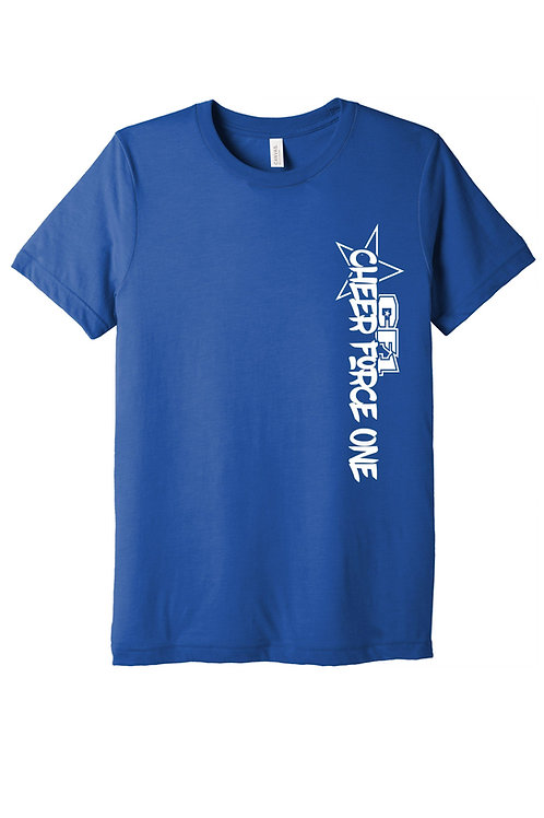 Heather Blue Cheer Force One T-shirt