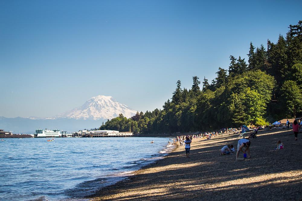 City of Tacoma, WA outdoor area with community