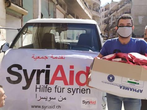 1400 Hilfspakete im Kampf gegen das Coronavirus verteilt