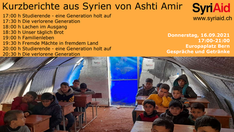 16.09.2021, Europaplatz Bern: Kurzberichte aus Syrien von Ashti Amir