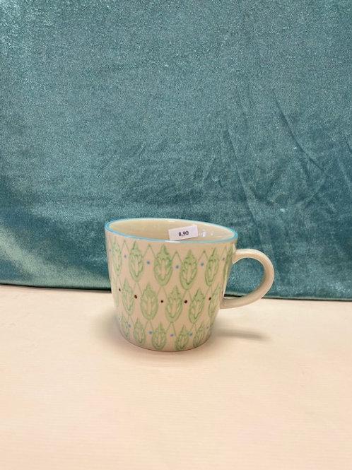 Tasse grün gemustert