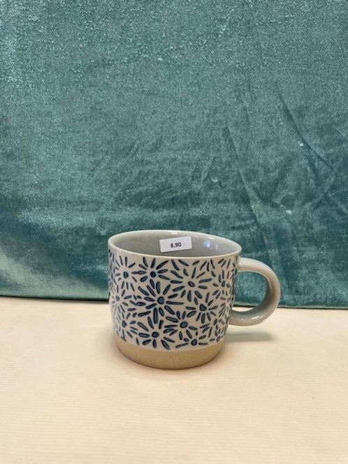 Tasse blau gemustert