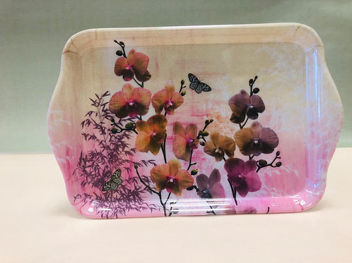 Tablett Orchideen