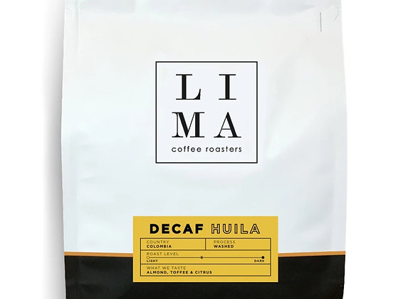 Decaf Colombia Huila Coffee Blend - by Lima Coffee Roasters
