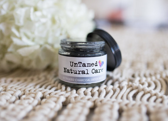 Activated Charcoal Black Detox Mask - by Untamed Natural Care