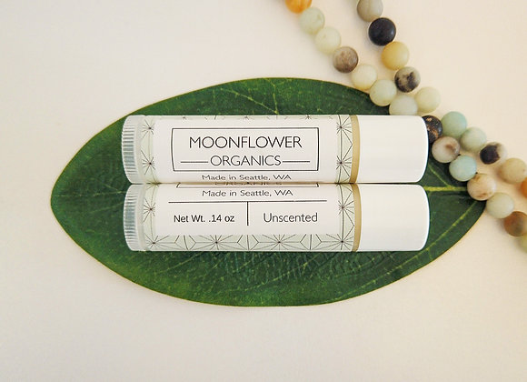 Unscented Chapstick - by Moonflower Organics