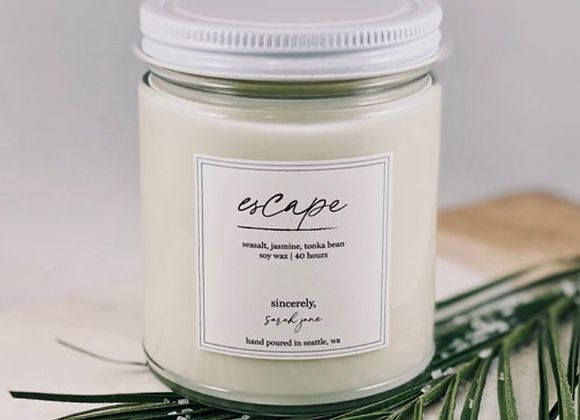 Sea Salt & Orchid Scented Candle - by Sincerely Sarah