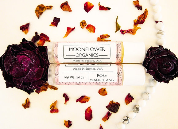 Rose Ylang Ylang Chapstick - by Moonflower Organics