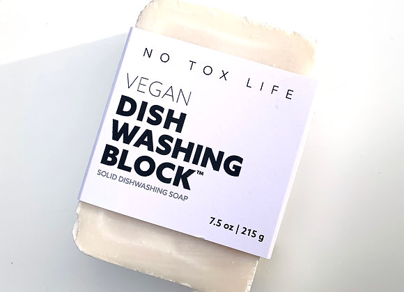Dish Block® Zero Waste Dish Washing Bar - No Tox Life