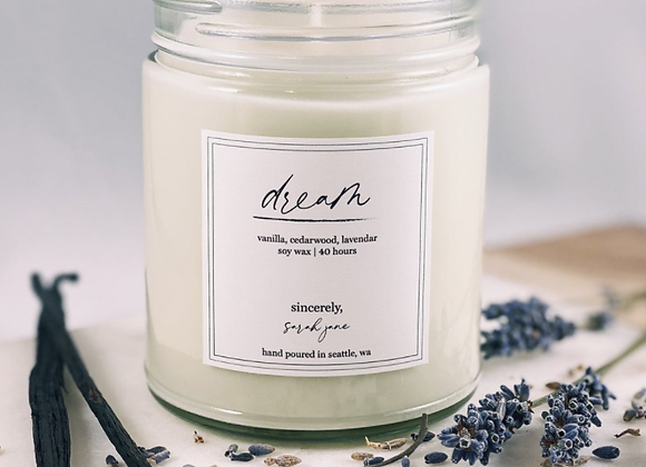 Dream Scented Candle - by Sincerely Sarah