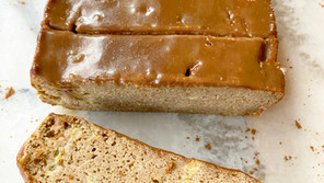 Gingerbread Banana Bread (Grain-free/Nut-free) with Dairy Free Caramel