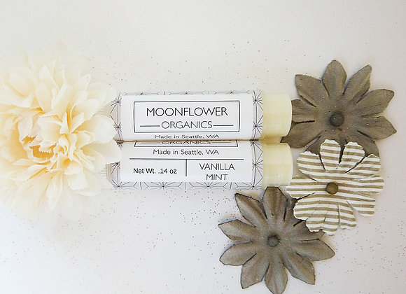 Vanilla Mint Chapstick - by Moonflower Organics