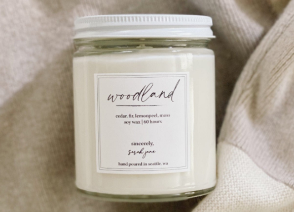 Woodland Scented Candle - by Sincerely Sarah