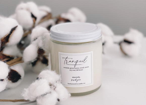 Bamboo & Coconut Soy Wax Candle  - by Sincerely Sarah