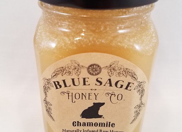Chamomile Infused Raw Honey - by Blue Sage Honey Company LLC