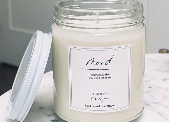 Mood Scented Soy Wax Candle  - by Sincerely Sarah