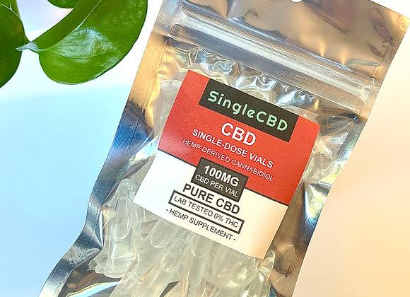 Pure CBD Vials (100mg each) - by SingleCBD