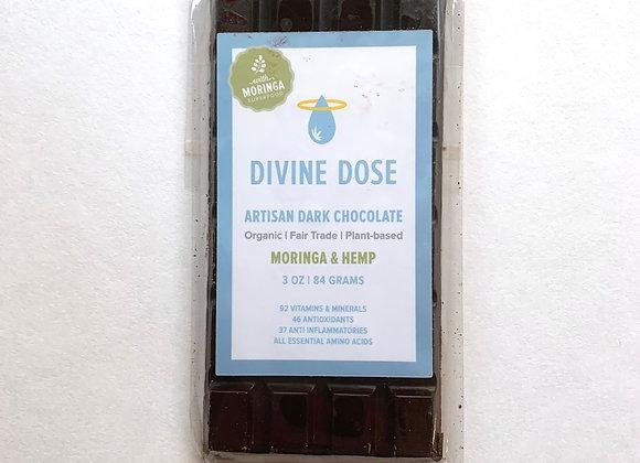 Moringa & Hemp Dark Chocolate Bar - by Divine Dose
