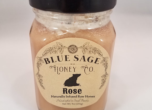 Rose Infused Raw Honey - by Blue Sage Honey Company LLC