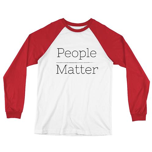 People Matter Baseball T