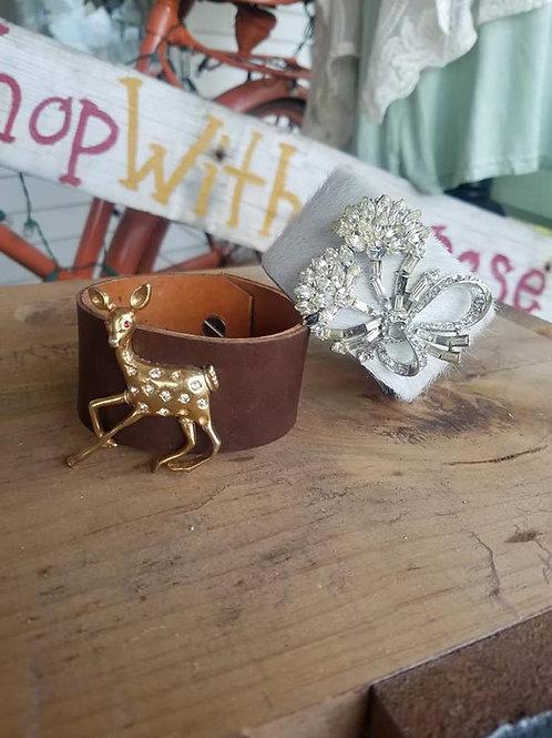 Handmade Leather Cuffs 2