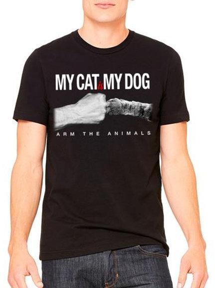 Cat is my Dog tee