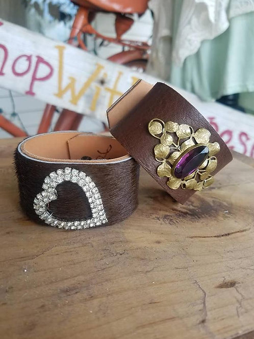 Handmade Leather Cuffs 3