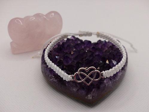 """""""Infinity heart"""" bracelet - White"""