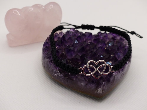 """Infinity heart"" bracelet - Black"