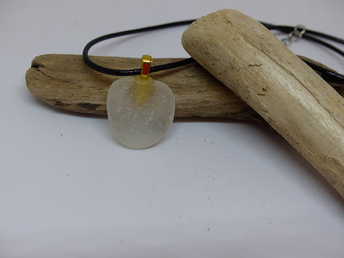 Beautiful White Sea Glass Pendant