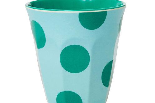 כוס מלמין טוטון בהדפס ירוק רקע מנטה