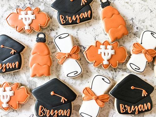 Graduation custom cookies