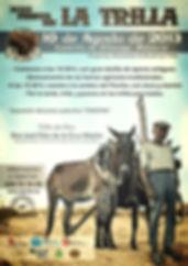 Cartel Fiesta de la trilla 2013