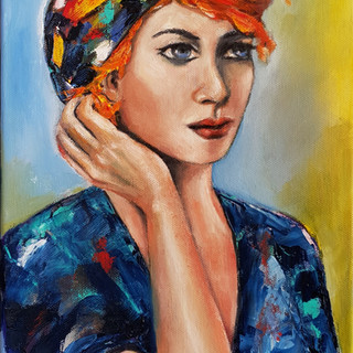 ''What is she really thinking''25x30cm oils on canvas.jpg