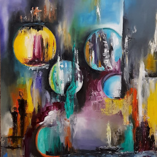 ''Roads of the Soul 1'' 70x80 cm