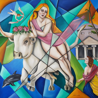 ''The Abduction of Europa'' 80x70 cm