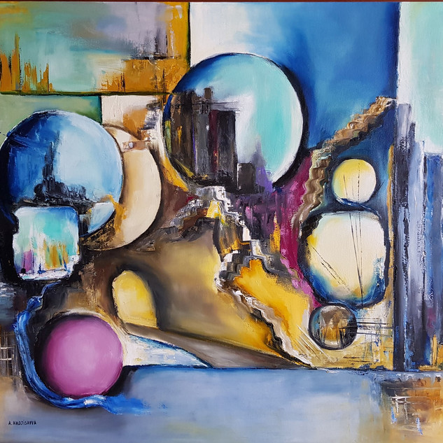 ''Universal Peace and Hope''100x80 cm