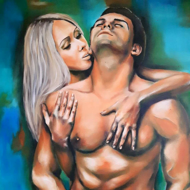 ''TOUCH OF LOVE'' 100X80 cm