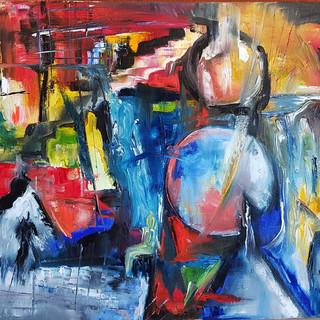 ''Towards the Light'' 50x40 cm