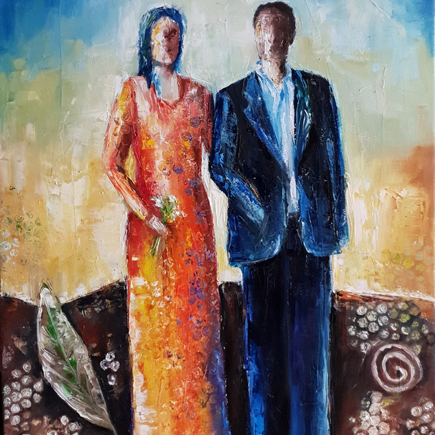 ''Together in Life'' 50x60 cm