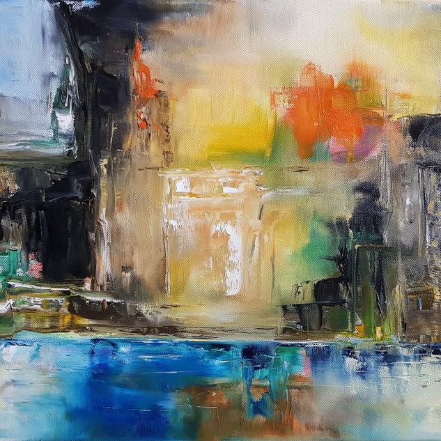 ''Lost City'' 50x40 cm