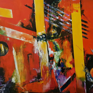''Roads of Fire'' 100x80 cm