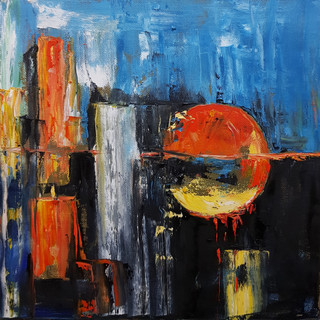''Bleeding Earth'' 30x30 cm